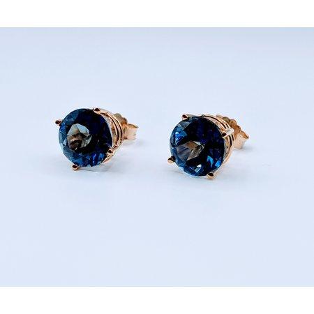 Earrings Dark Blue Topaz 14ky 21906088