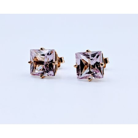 Earrings Pink Topaz 14ky Studs 219060067