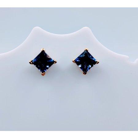 Earrings Stud Iolite 14ky 219060066