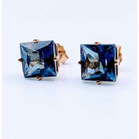 Earrings Created Sapphire 14ky 219060061