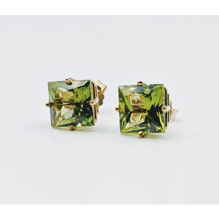 Earrings Peridot 14ky Studs 219060063