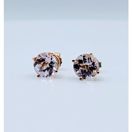 Earrings Pink Topaz 14ky Studs 219060031