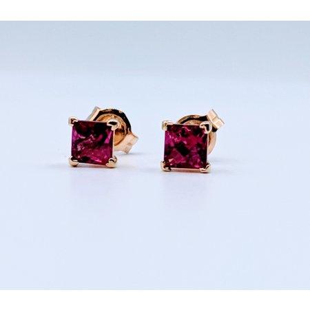 Earrings Pink Tourmaline 14ky Studs 219060035