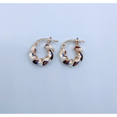 Earrings Hoop Twist 14ky 219060040
