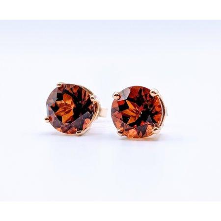 Earrings Orange Topaz 14ky Studs 219060081
