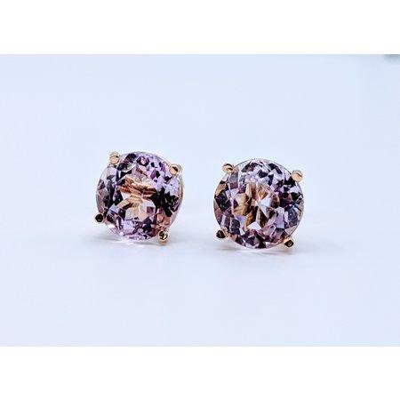 Earrings 3.50ctw Amethyst Stud 14ky 219060134