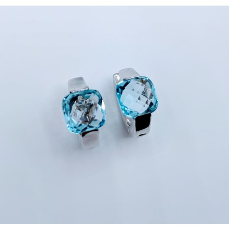 Earrings Blue Topaz 18kw 219060127