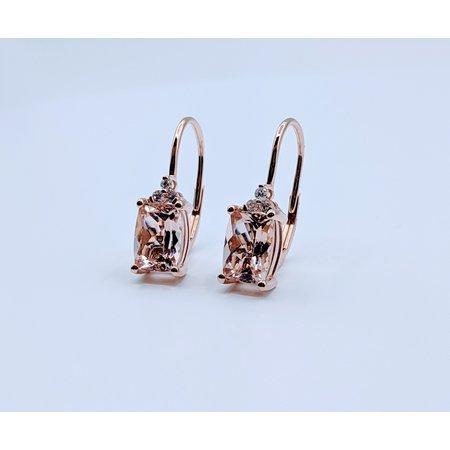 Earrings 14KR .09 DI 2.62. CT MORGANITE 121060068