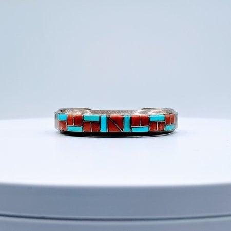 Bracelet Native American Turq/Coral SS 219070016