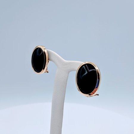Earrings Onyx Cab 14ky 219070029
