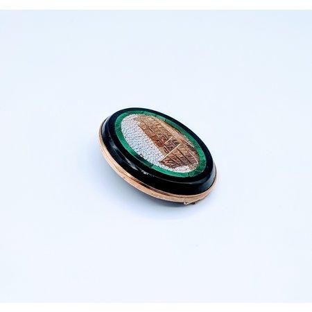 Brooch Micro Mosaic Colloseum 14ky 219080020