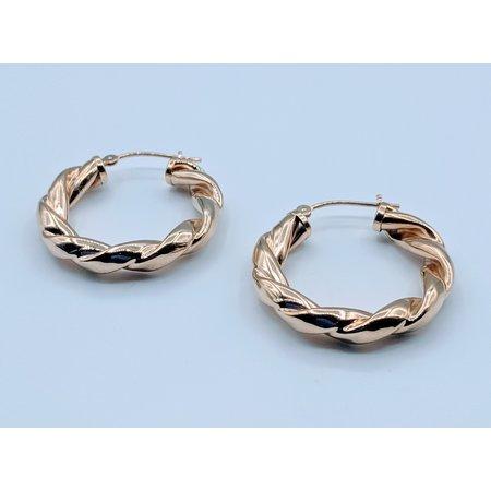 Earrings Twisted Hoop 14ky  419070408