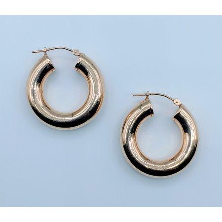 Earrings Hollow Hoop 14ky  419070418