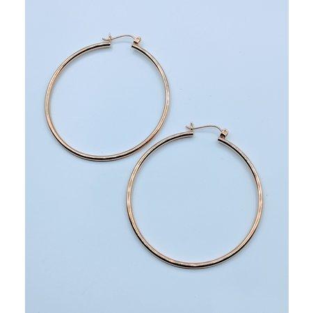 """Earrings Hoop 14ky 1.75"""" 419070406"""