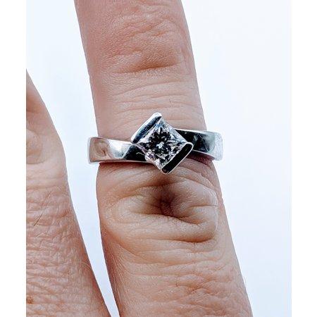 Diamond Solitaire Princess Cut .75ct SI1 H Sz5 219060165