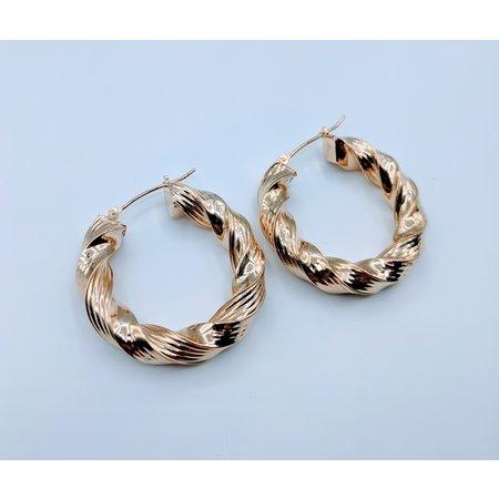 Earrings Twisted Hoop 14ky  419070413