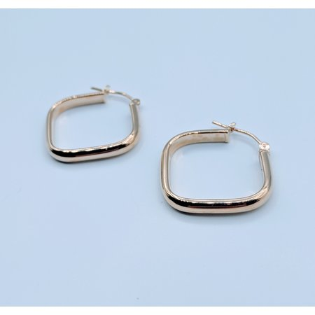 Earrings Square Hoop 14ky 419070414