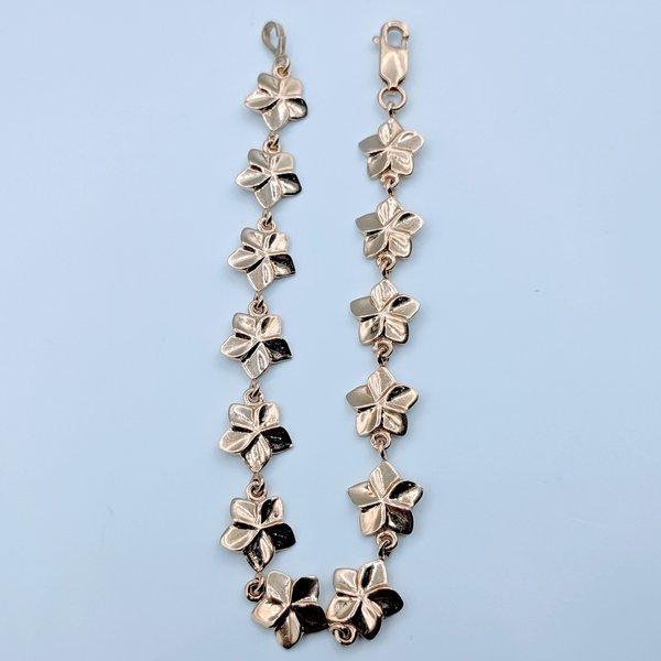 """Bracelet Flower Link 14ky 6.5"""" 419070431"""