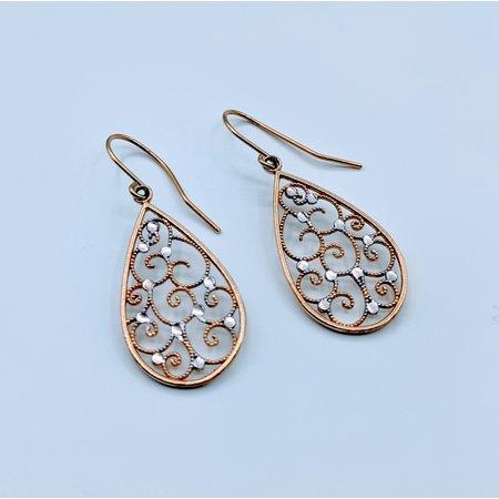 Earrings Dangle 14kt Two-Tone 419070411