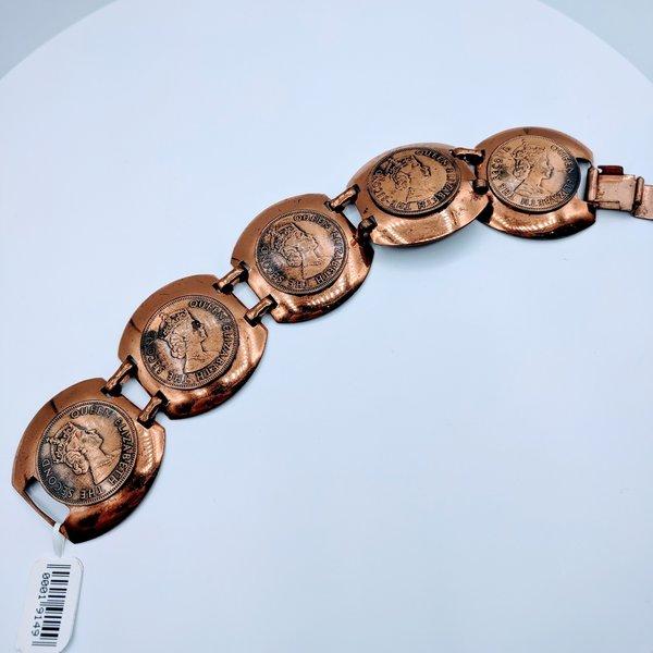 "Copper British Coin Bracelet 7.5"" 219060001"