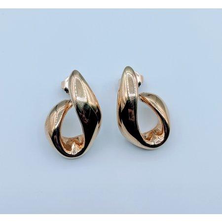 """Earrings Stud """"J"""" 14ky 119070037"""