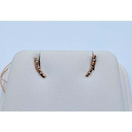 Earrings Bar Style Diamond 10ky .03ctw 219080081