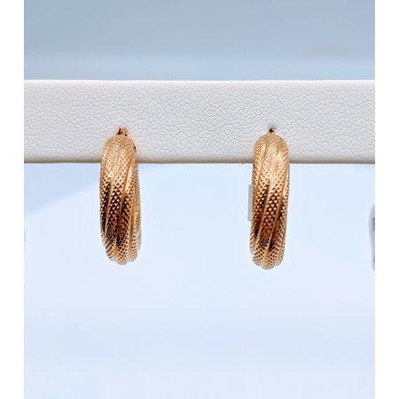 Earrings Hoops 14ky Twist 219060057
