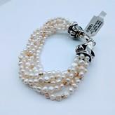 "Bracelet Lagos Multi-Strand Pearl 18k/SS 8.5"" 219050091"