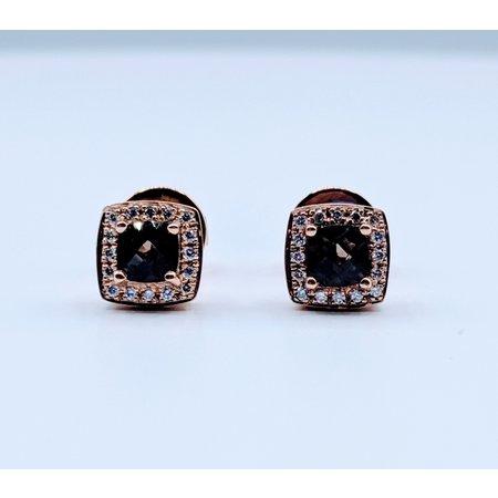 Earrings 1.00ctw Levian Quartz .10ctw Dia 14kr 119090030