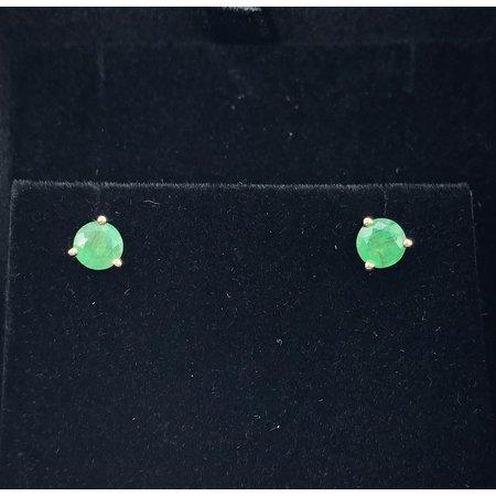 Earrings Emerald Studs 5mm 14ky 119090051