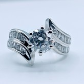 Ring 1.21ct Dia Ctr 2.00ctw 14kw Sz6 119090077