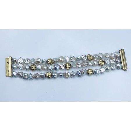 "Bracelet Pearl Nugget 18ky 7"" 219090038"