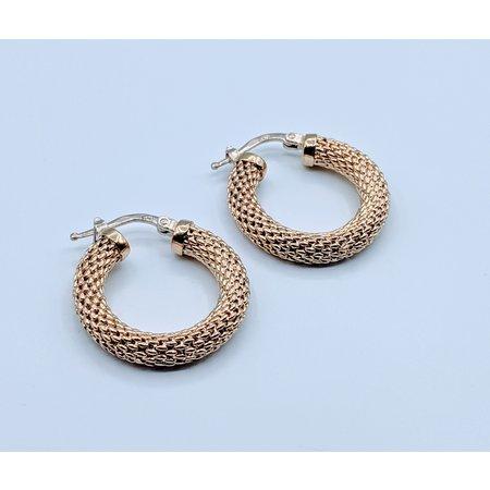Earrings Mesh Hoops 14ky 419090552