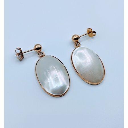 Earrings MOP Drops 14ky 419090554