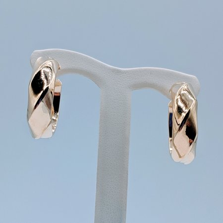 Earrings Twist Hoops 14ky 419090543