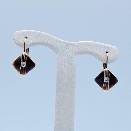 Earrings Diamond Shield .10ctw 14ky 419090546