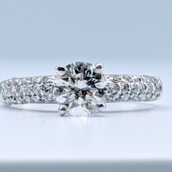 Ring Engagement .82ct Ctr 1.10ctw 14kw Sz6 119100002