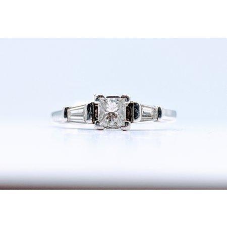 Ring Diamond Engagment .33ctw Platinum Sz3.75 119100010