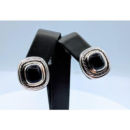 Earrings David Yurman Sterl/14kt Onyx 219080055
