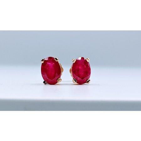 Earring 2.00ctw Ruby 14ky 119090033