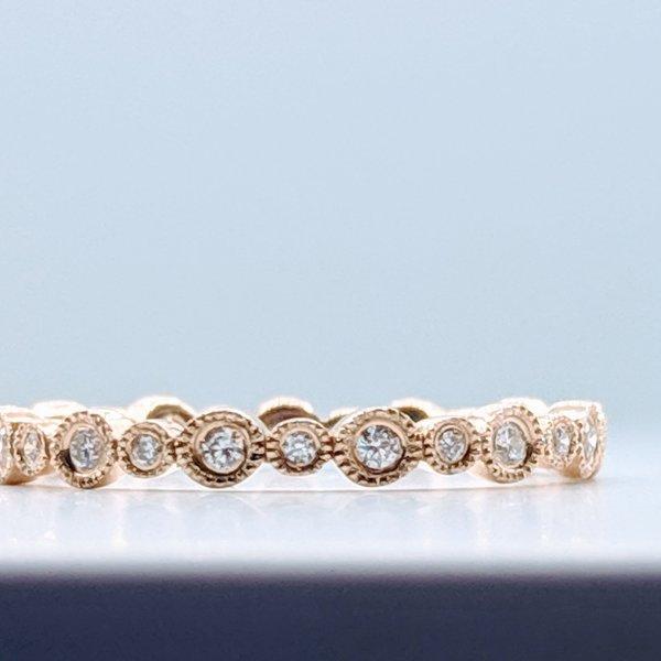 Ring .20ctw Diamond Band 14ky Sz7 119100054