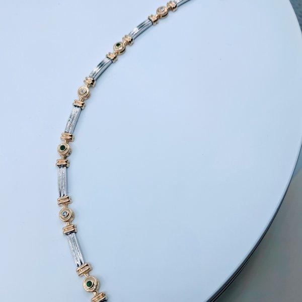 Bracelet .075ctw Diamond .10ctw Emerald 14ktt 119100139