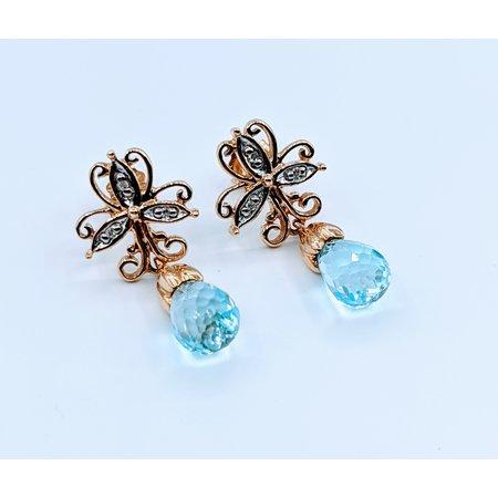 Earrings Topaz Briolette 10ky 119110012