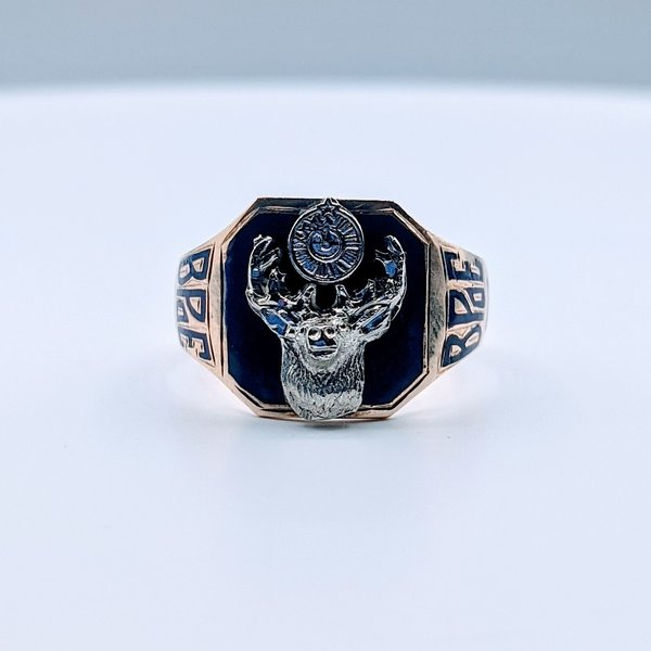 Ring Enamel Order of Elk 10ky Sz10.75 419110660