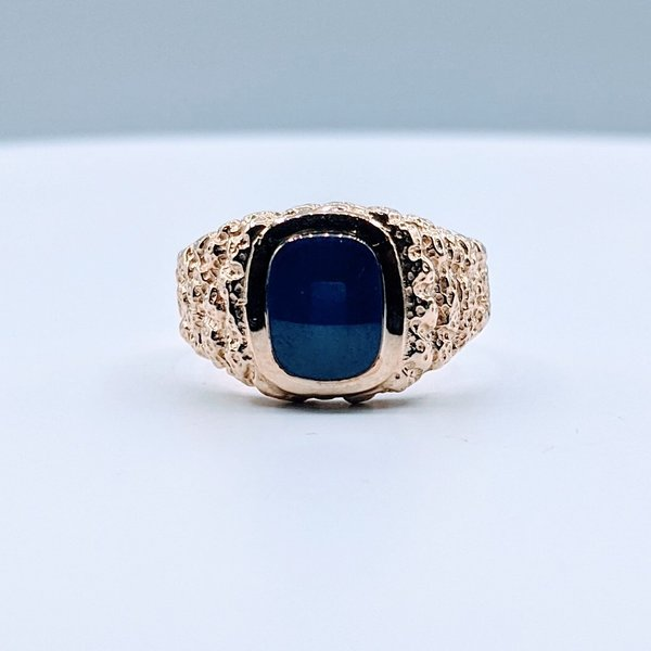Ring Cr. Star Sapphire Nugget 10ky Sz10.5 419110654