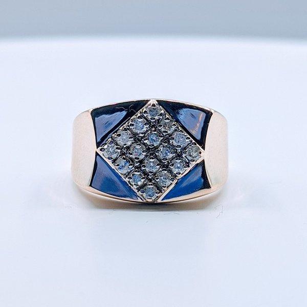 Ring .33ctw Diamond 10ky Sz9.5 419110573
