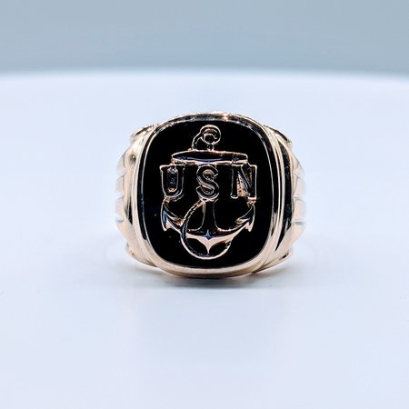 Ring Onyx US Navy 10ky Sz9.75 419110604