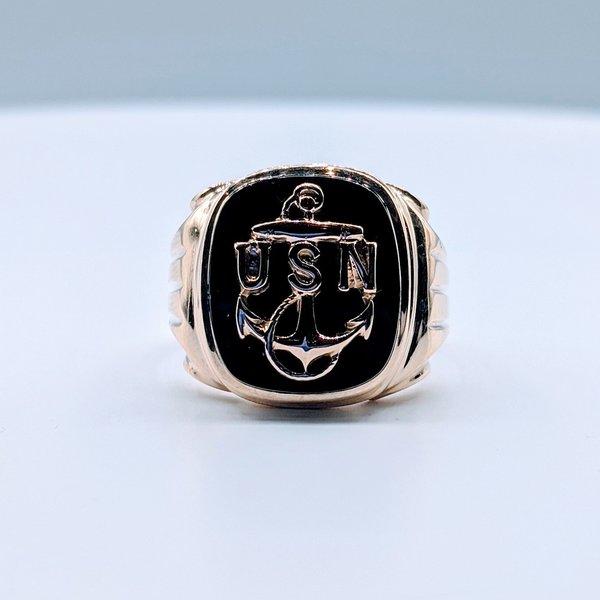 Ring Onyx US Navy 10ky Sz9.75 419110604