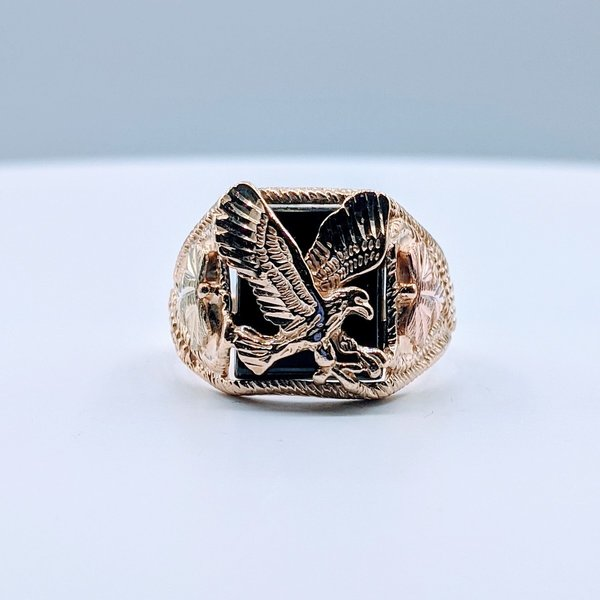Ring Eagle Onyx 10kbhg Sz12.5 419110580
