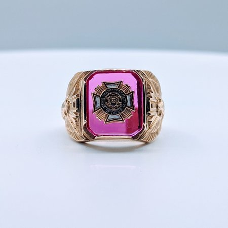 Ring Cr. Ruby VFW 10ky Sz9 419110656